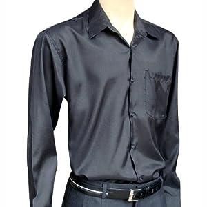 Men 39 s black long sleeve thai silk shirt xxxl at amazon for Mens silk shirts amazon