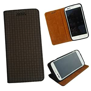i-KitPit - New Design PU Leather Flip Case HTC Desire 501 (BROWN)
