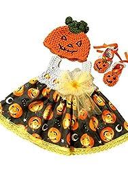 MiC Crafts Baby Girl 3 Piece Set Pumpken Black and White