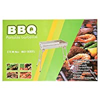 St. Millers Stainless Steel Portable Barbecue Grill,Heavy Duty, 1Pc,Steel