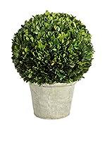 JLINE Planta Artificial Boj XL BLANCO Y VERDE