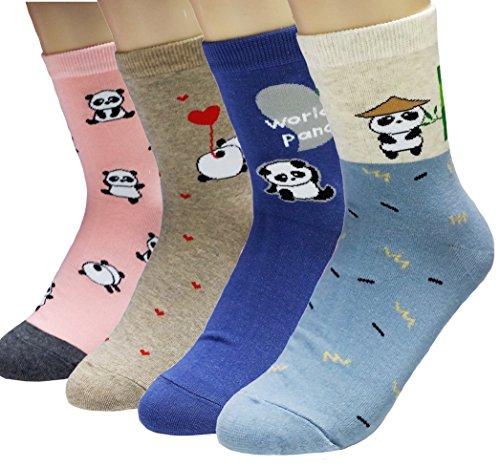 JJMax-Womens-Cute-Black-and-White-Panda-Bear-Endangered-Species-Socks