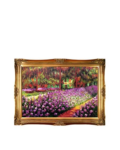 Claude Monet Artist's Garden At Giverny Hand-Painted Oil Reproduction