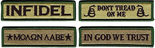 Great Features Of Tactical Morale Patch Set by JAS Drapery - In GOD We Trust, Don't Tread on Me, Mol...