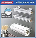 Wenko 3 in1 Küchenrollenhalter Turbo Fix