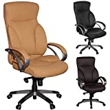 Amstyle-Brostuhl-BERLIN-Caramel-X-XL-150-KG-Belastbarkeit-Schreibtischstuhl-Leder-Optik-Chefsessel-Wippfunktion-gepolstert-Drehstuhl-mit-Armlehne-Drehsessel-Rckenlehne-ergonomisch-Hartbodenrollen