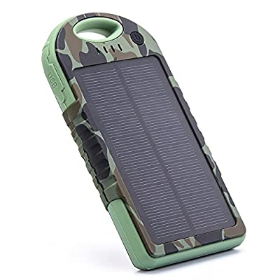 EFOSHM Portable Solar USB Charger 12000mah chargers Power Basic Bank Exernal Battery Capacity Pack Panel for Iphone Apple iPhone 6s 6 Plus, Android, Samsung, HTC, LG, Nexus,Tablet,and more.