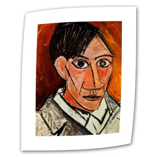 Art Wall Self Portrait 1907 by Pablo Picasso Rolled Canvas Art, 14 by 18-Inch