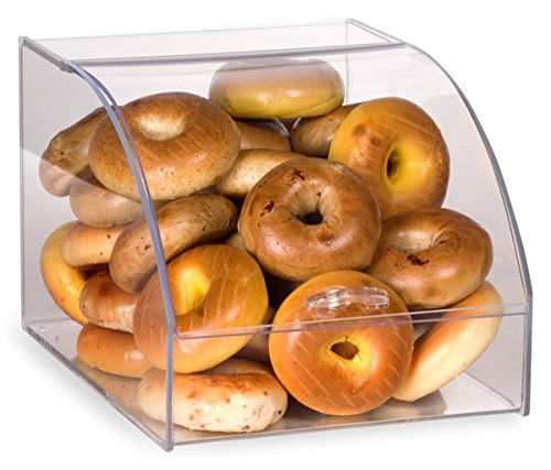 Displays2go Curved Lid Countertop Bakery Display Hinged Door Case with Easy Grip Handle, 12-1/2-Inch by 10-1/2-Inch by 17-Inch