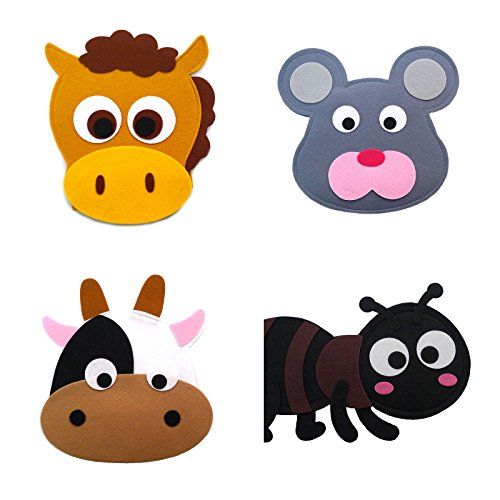 Animal Headband masks horse+mouse+cow+ant