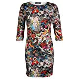 My1stwish Printed Mini Bodycon Party Dress Womens