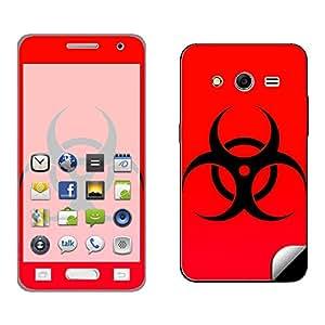 Skintice Designer Mobile Skin Sticker for Samsung Core 2, Design - Radioactive