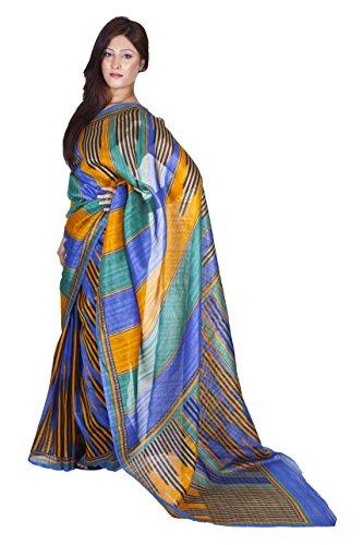 Ninecolours Jamdani Hand Woven Block Printed Silk Sarees 3