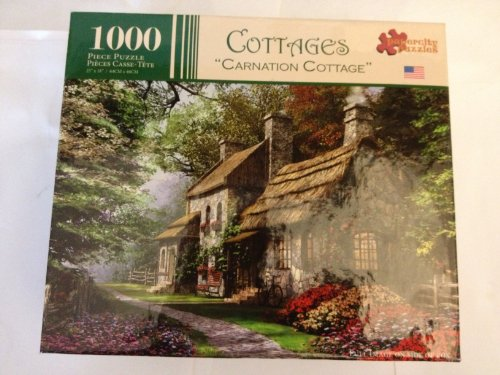 Cottages 1000 Piece Jigsaw Puzzle-Carnation Cottage