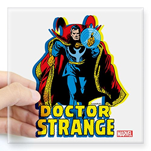 Dr Strange Square Sticker 3x3 Clear