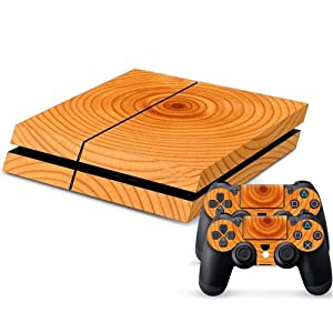 Designer Ps4 Slim Vinyl Tree Rings Console and 2 Controller Skins