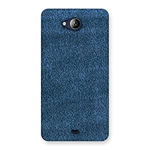 Royal Blue Clothing Pattern Back Case Cover for Canvas Play Q355