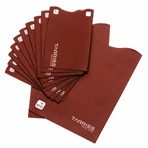 RFID Blocking Sleeve - Extra Thin, 10 RFID Credit Card, 2 RFID Passport sleeves (Change Debit Card Number compare prices)