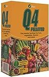 Vitax Q4 Pelleted Fertiliser Fruits Vegetables Garden Lawns Flowers Roses 0.9Kg