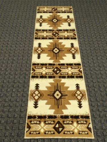 South West Native American Runner Rug Design C318 Ivory 2