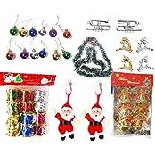 Pragati Pro Christmas Tree Ornament Decoration Assorted Pack Of 7 Varieties - 39 Pieces