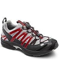 Dr. Comfort Men's Performance Red Diabetic Athletic Shoes
