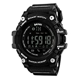 Waterproof Sport Bluetooth Black Smart Watch Phone Mate For Android IOS iPhone Samsung