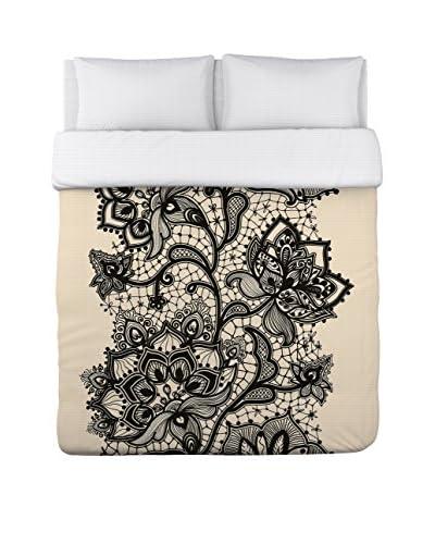 One Bella Casa Lace Stripe Duvet Cover