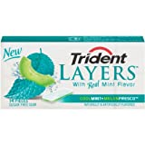 Trident Layers Cool Mint And Melon Fresco, 14-Count (Pack of 12) ~ Trident