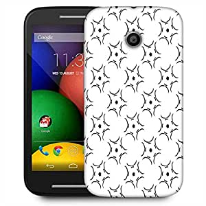 Snoogg Abstract Pattern White Designer Protective Phone Back Case Cover For Motorola E2 / MOTO E22