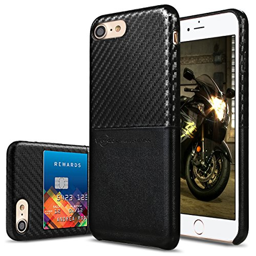 online store 87923 9518e iPhone 7 Case, Premium PU Leather Case with Credit Card Slot Holder ...
