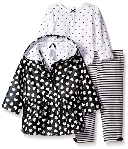 Little Me Little Girls Heart Jacket with Legging Set, 24 Months