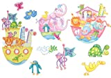 Noahs Ark Animals Wall Decals - Peel and Stick 10 Wall Accent Stickers