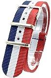 [2PiS] ( トリコロール ネイビー・ホワイト・レッド : 20mm ) NATO 腕時計ベルト ナイロン 替えバンド ストラップ 交換マニュアル付 2-1-20 ランキングお取り寄せ