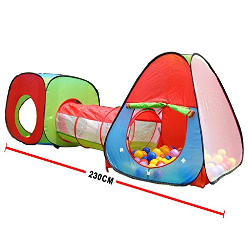 Buy Bargain Roadacc (TM) One Square Cubby-One Triangle Cubby-One Tunnel 3 in 1 Children's Playground...