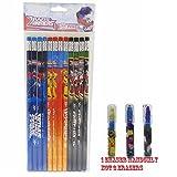Tranformers Pencils 12 and 1 Eraser