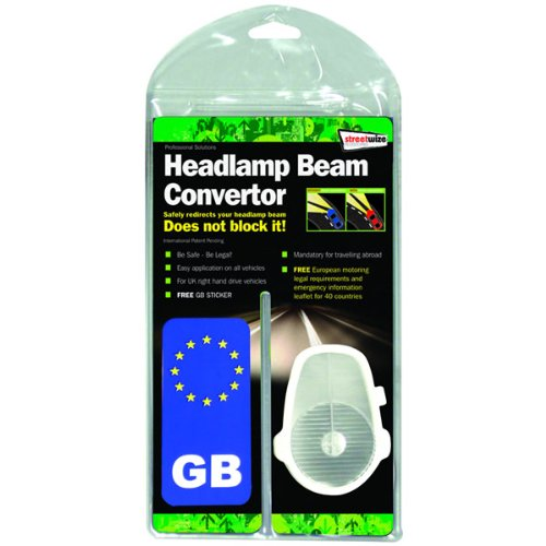 Ultimate Car Beam Bender / Convertors and Number Plate self adhesive GB sticker European Driving