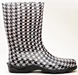 Sloggers 5005HT10 Size 10 Houndstooth Womens Waterproof Rain Boots