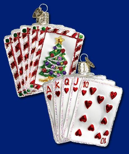 Old World Christmas Royal Flush Ornament