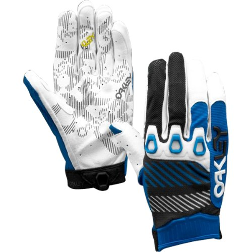 Buy Low Price Oakley Automatic 2 Men's Off-Road Motorcycle, Mountain Bike & BMX Gloves – Blue Line (94102-62Z-M-FBA-A)