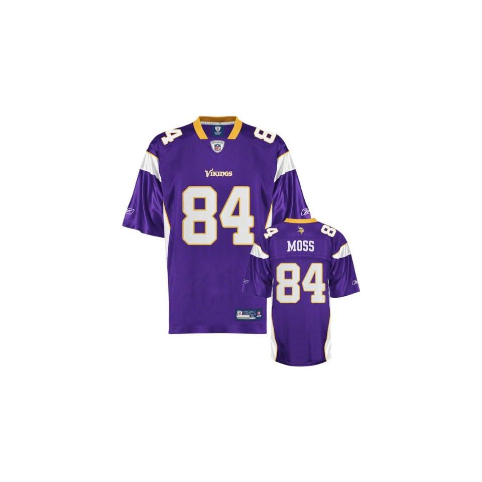 Randy Moss Vikings Jersey Reebok Purple  84 Minnesota Vikings on ... 3a895a533