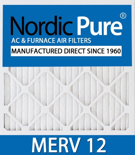 Nordic Pure 14x28x1 Exact MERV 8 Pure Carbon Pleated Odor Reduction AC Furnace Air Filters 3 Pack