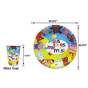 Christian Religious Tableware Paper Plates and Cups | For Kids