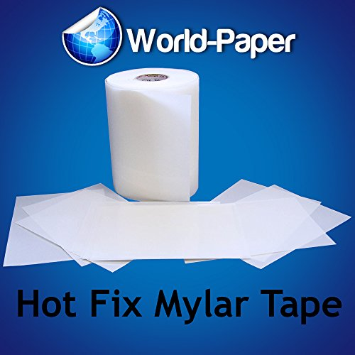 Mylar Hot Fix Rhinestones Tape Transfer Film Paper - Full Roll- 9.5 Inch Wide X 330 Ft Long front-1005061