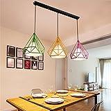 Trois pays d'Amérique forgé lustre en fer suspendus style industriel rétro lampe lustre personnalité créative E27 110V-240V...