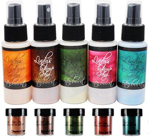Lindy's Autumn Leaves MEGA Set, (sprays & embossing powders)