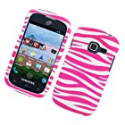 For Straight Talk Net10 Galaxy Centura SCH-S738C Hard Case Zebra Pink and White