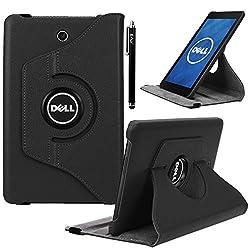 Dell Venue 8 Case, E LV Dell Venue 8 Case Cover 360 rotating Lightweight case for Venue 8 Tablet (Android Tablet) (will only fit Dell Venue 8 tablet) - BLACK
