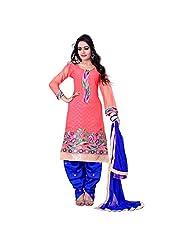 Kalaahari Women's Cotton Unstiched Salwar Suit - B00V9WGHRS