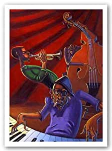 Amazon Com 24x36 Jazz Trio Justin Bua Art Print Poster